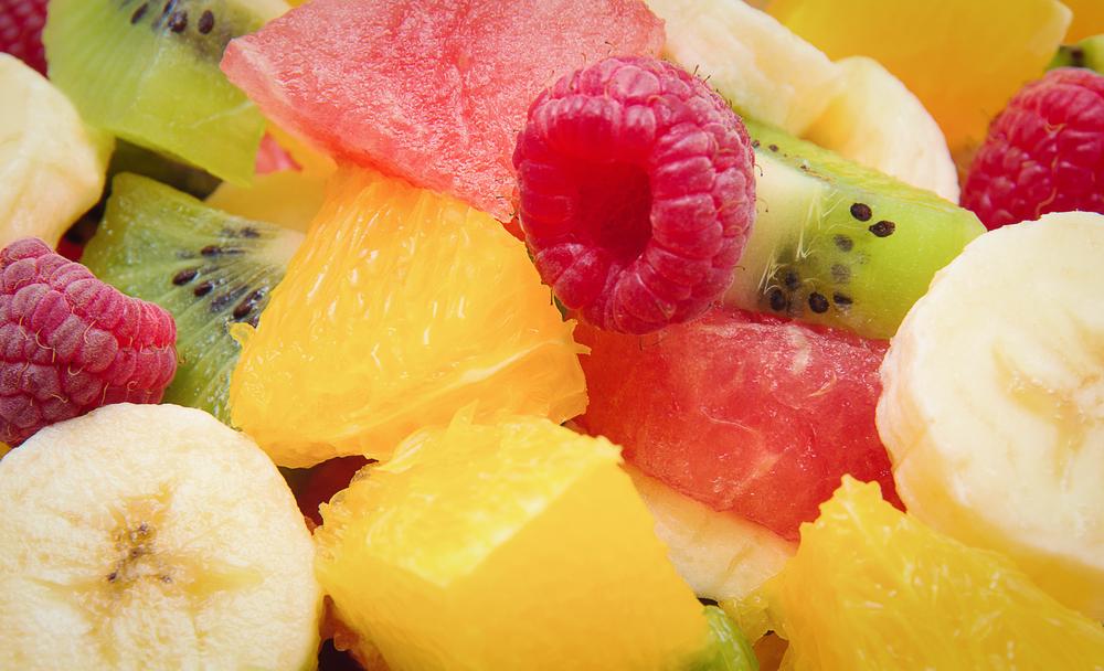 Closeup of fruit salad