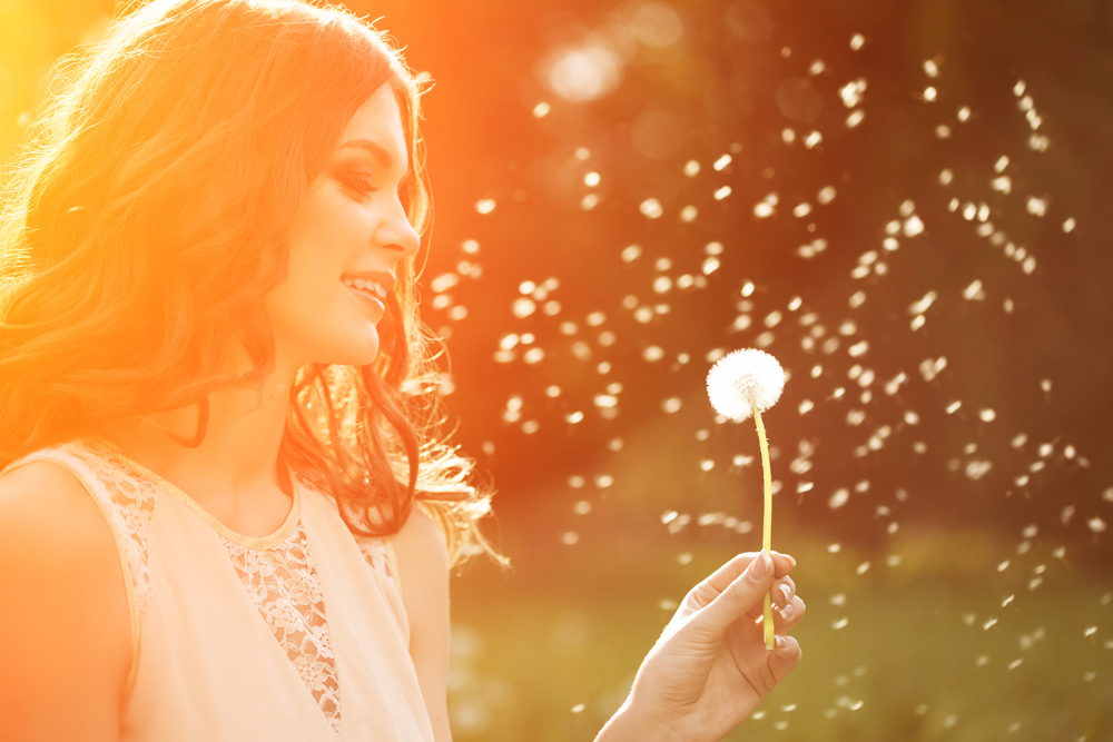 Woman In Summer With Dandelion